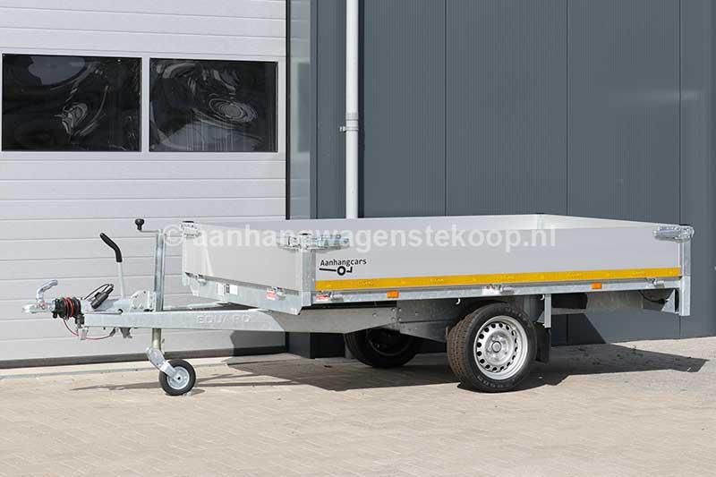 Enkelas plateauwagen met 30cm aluminium borden