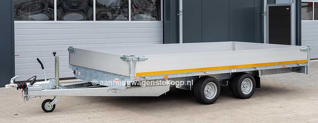 Professionele verlaagde plateauwagen met aluminium borden