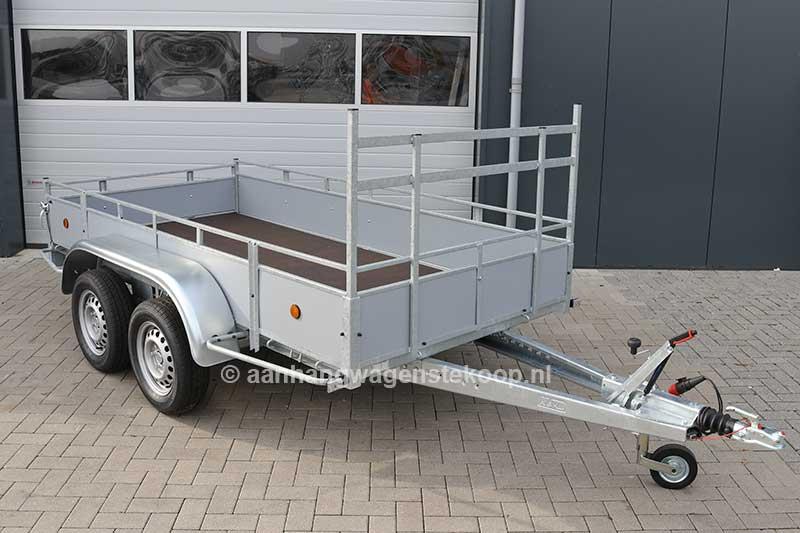 Power Trailer tandemas aanhangwagen met bindrail en voorrek